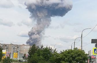Rusya'da mühimmat fabrikasında büyük patlama