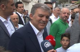 Abdullah Gül bayram namazını Beykoz'da kıldı