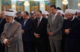 Beşar Esad bayram namazını başkent Şam'da kıldı