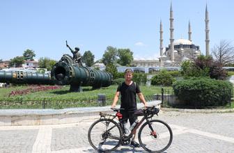 Bisikletle seyahat eden Yüksel 8 günde İzmir'den Edirne'ye gitti
