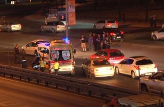 İstanbul'da feci kaza! Üst geçitten düştü