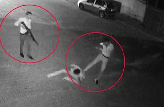 Karaman'da silah ve bıçak çekerek tekme tokat dövdüler! Anbean kamerada