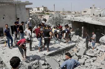 İdlib Gerginliği Azaltma Bölgesine hava saldırıları 10 ölü
