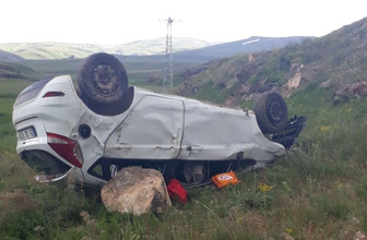 Erzurum Tekman'da otomobil takla attı: Feci kazada 2 kişi öldü