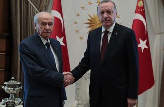 Recep Tayyip Erdoğan ve Devlet Bahçeli görüşmesi sona erdi
