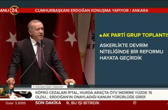 Başkan Erdoğan: Askerlikte devrim niteliğinde bir reformu hayata geçirdik