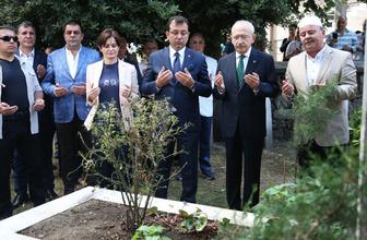 Kemal Kılıçdaroğlu ve Erkem İmamoğlu'ndan ilk İBB başkanı Hızır Bey Çelebi'nin kabrine ziyaret