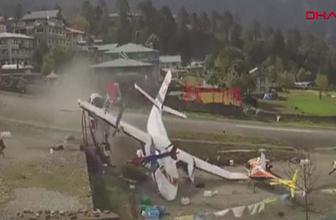 Nepal'deki uçak kazasının yeni görüntüleri yayınlandı