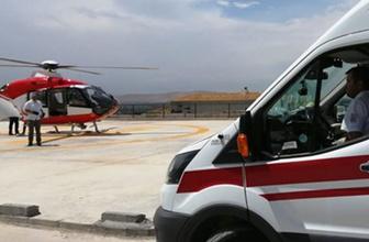 Kahramanmaraş'ta dağda yaralanan öğretmen helikopterle kurtarıldı