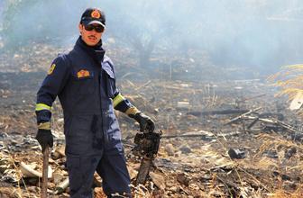 Muğla Bodrum'da lüks sitelerin bulunduğu arazide tüp patladı