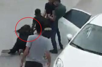 Otobüsün önünü kesip genç kadını saçlarından sürükleyerek kaçırdılar