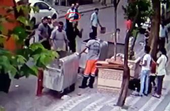 Hurdacı, tartıştığı temizlik işçisine baltayla saldırdı! O anlar kamerada