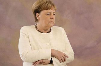 Merkel'e ne oluyor? Yine kameralar karşısında tir tir titredi!