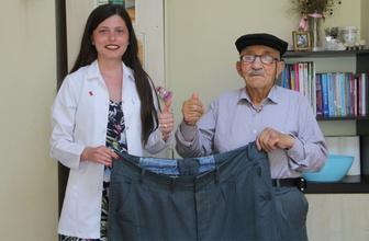İlerleyen yaşına rağmen 41 kilo veren yaşlı adam sağlığına kavuştu