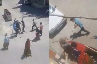 Şanlıurfa'da kadın erkek demeden eline sopayı alan kavgaya tutuştu