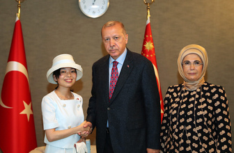 Cumhurbaşkanı Erdoğan, Prenses Akiko ile görüştü