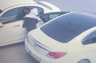 Kırıkkale'de otomobilin camını kırıp böyle hırsızlık yaptılar