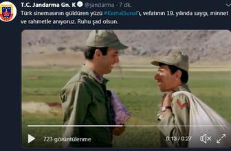 Emniyet ve Jandarma'dan 'Kemal Sunal'ı anma mesajı