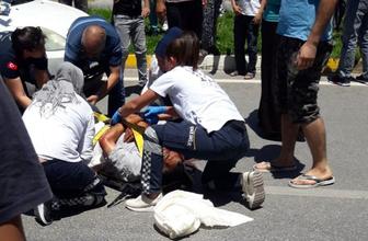 Denizli'de yaşlı adama otomobil çarptı
