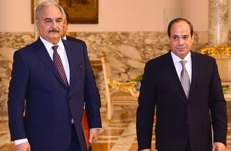 Sisi Hafter'e desteğini gönderdiği askeri konvoyla gösterdi fotoğraflar sızdı