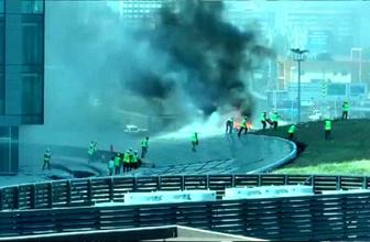 Zincirlikuyu'da plazada korkutan yangın! Dumanlar gökyüzünü kapladı