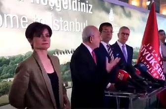 Kaftancıoğlu, Kılıçdaroğlu konuşurken düşen telefonu havada yakaladı! Sosyal medya coştu