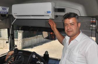 Aydın'da şehiriçi ulaşımında ev tipi klima taktı