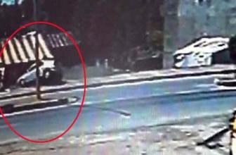 Ağrı'da yaşanan trafik kazası güvenlik kamerasına yansıdı