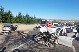 Ankara Elmadağ'da zincirleme kaza 3 ölü