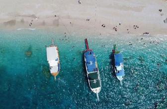 Türkiye'nin Maldivleri'nde Aşk Mağarası büyük ilgi topluyor
