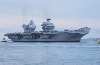 İngiltere'nin uçak gemisinde sızıntı tespit edildi tatbikat yarıda kesild