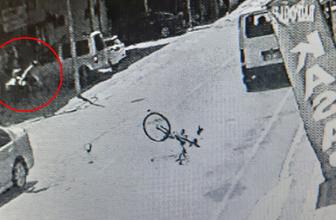 17 yaşındaki sürücünün çarptığı bisikletli çocuk metrelerce havaya savruldu