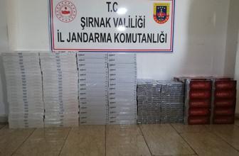Şırnak'ta binlerce paket kaçak sigara ele geçirildi