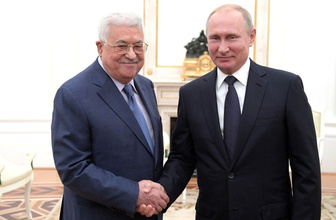 Kremlin'den açıklama! Putin ve Abbas Filistin meselesini görüştü