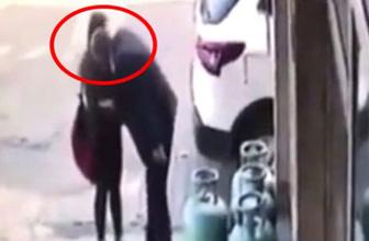 Yaşlı sapığın, 13 yaşlarındaki çocuğa cinsel tacizi kamerada