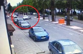 Otomobilin çarptığı yaşlı adam metrelerce böyle savruldu