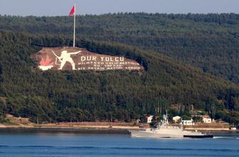 Rus Donanmasına ait 2 askeri gemiÇanakkale Boğazı'ndan geçti