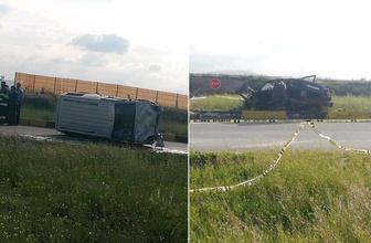Eskişehir'de dehşet veren kaza: 3 ölü 6 yaralı