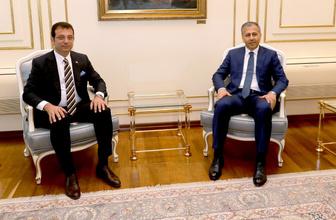 Vali Yerlikaya İBB Başkanı Ekrem İmamoğlu'nu ziyaret etti