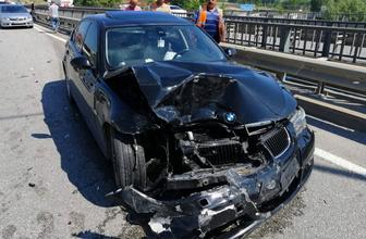 Samsun'da iki otomobil çarpıştı: Yaralılar var