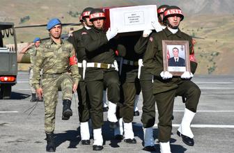 Hakkari'de şehit asker için tören düzenlendi