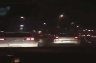 Makas atıp kaza yapan trafik magandaları kamerada