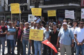 Torbalı'da işten çıkarılan işçiler eylem yaptı: Oğluna var da bize yok mu