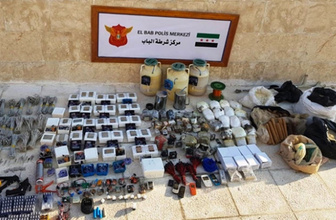 MİT ve Jandarmadan Bab'da ortak operasyon! 1 ton patlayıcı ele geçirildi