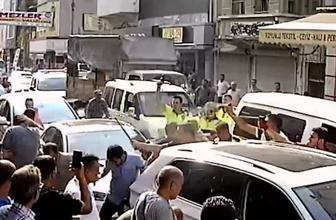 Adana'da polis park cezası yazmak istedi esnaf arbede çıkardı