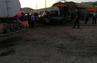 Şırnak'ta otoparkın yakıt tankerinde patlama