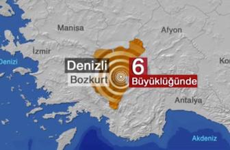 Denizli'de şiddetli deprem!  Kandilli ve AFAD depremin büyüklüğünü farklı veriyor