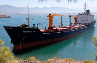Muğla'da kuru yük gemisi karaya oturdu