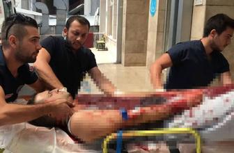 Zonguldak'ta zili çalan komşu baba ve oğlu bıçaklayarak ağır yaraladı