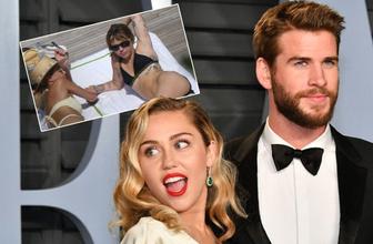Miley Cyrus bir kadınla öpüşürken yakalandı kocasından boşanır boşanmaz aldattı